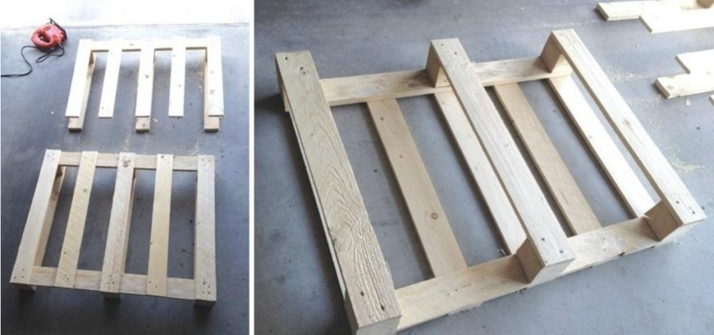 mesa de palet - maceta - paso a paso - hierba gatuna