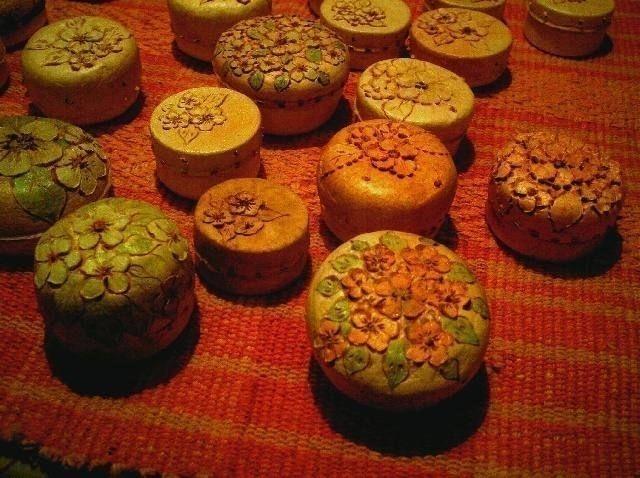 Artesanías con cáscara de naranja- cajas