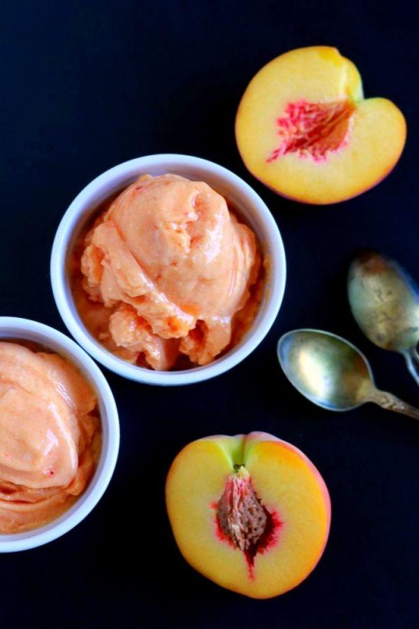 2-Ingredient-Soft-Serve-Peach-Ice-Cream-dairy-free-paleo-savorylotus-734x1102