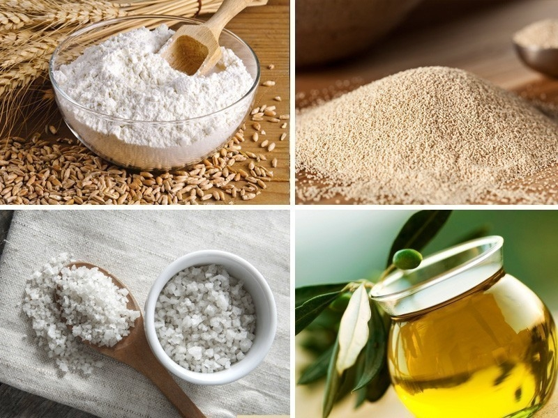 Pan de oliva con relleno cremoso- ingredientes