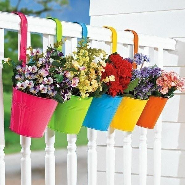 terraza de colores- macetas