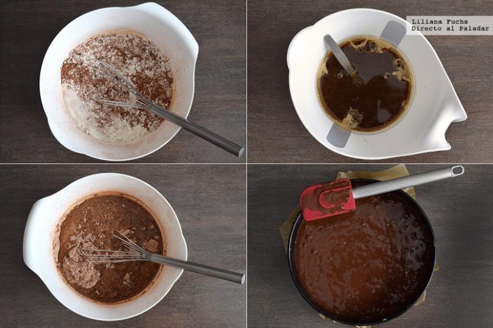 biscochuelo vegano de chocolate y café