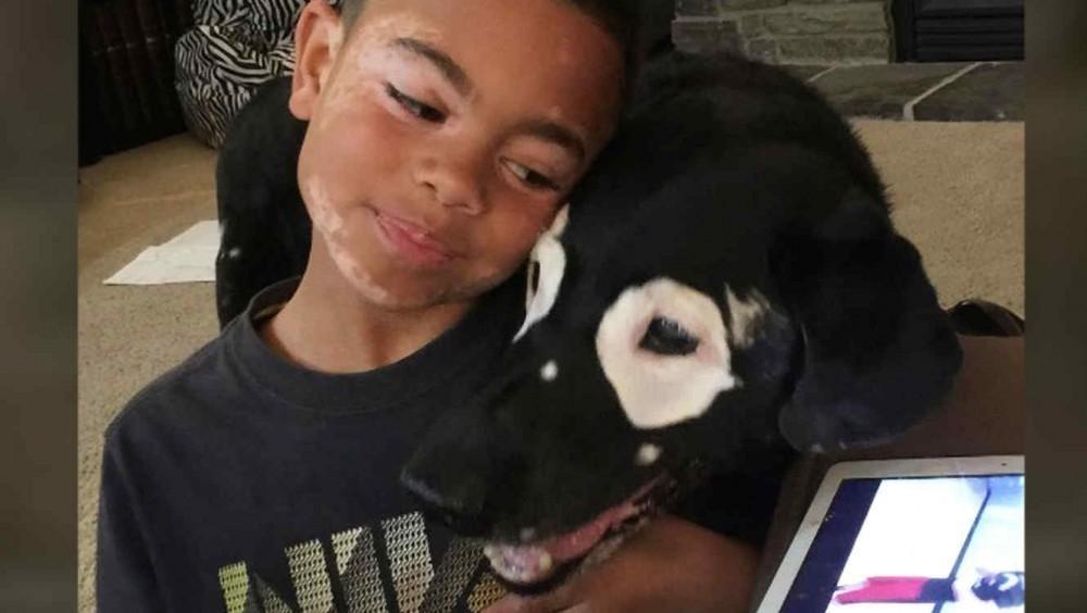 Carter Blanchard y el perro Rodwy