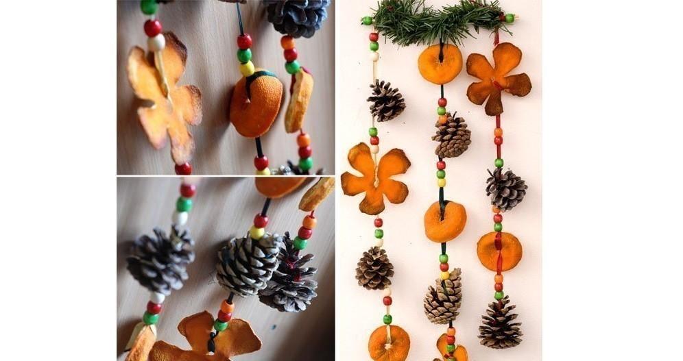 Artesanías con cáscara de naranja- adornos