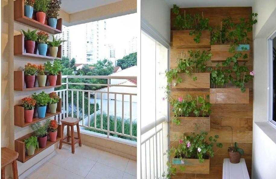 jardín vertical en balcón