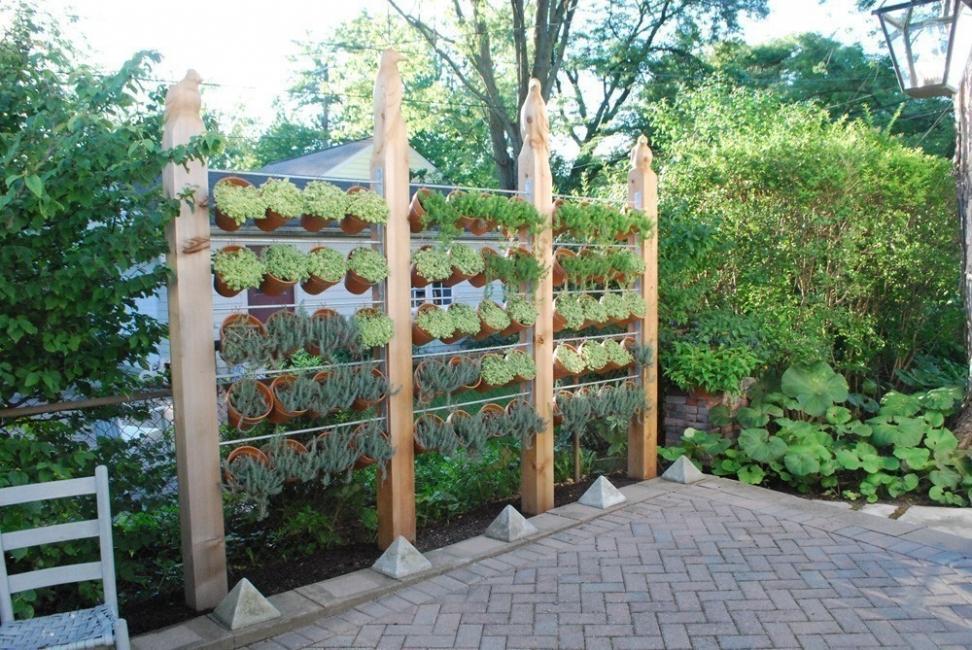 Ideas para crear divisiones verdes en tu jardín - jardín vertical