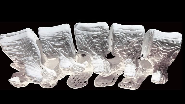Hueso hiperelástico de tinta 3D
