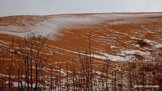 desierto sahara nevó