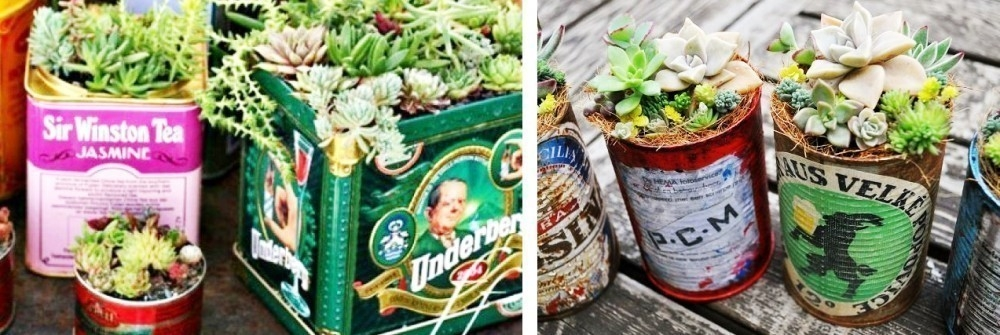 Ideas para casas sin jardín- jardín vintage