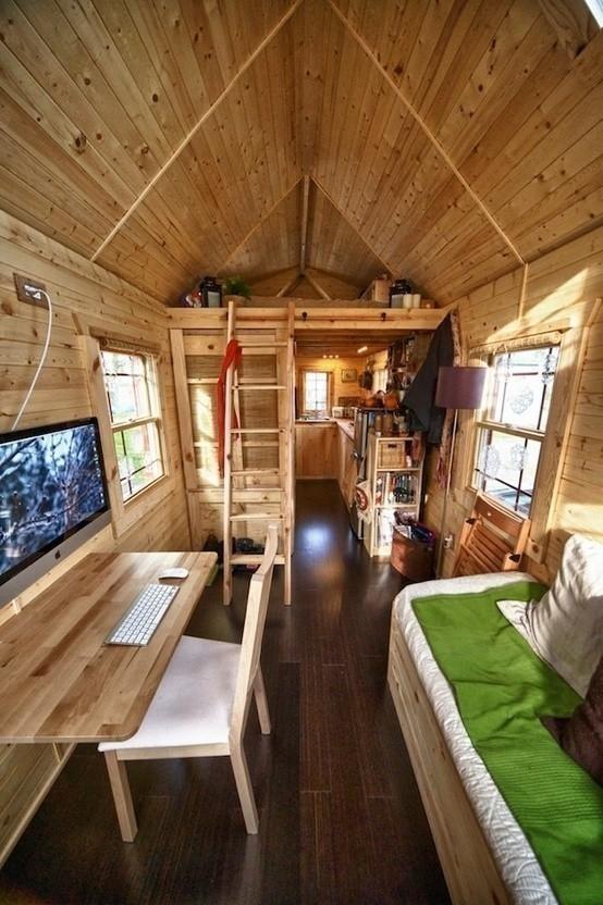 micro-cabañas en el bosque - interior