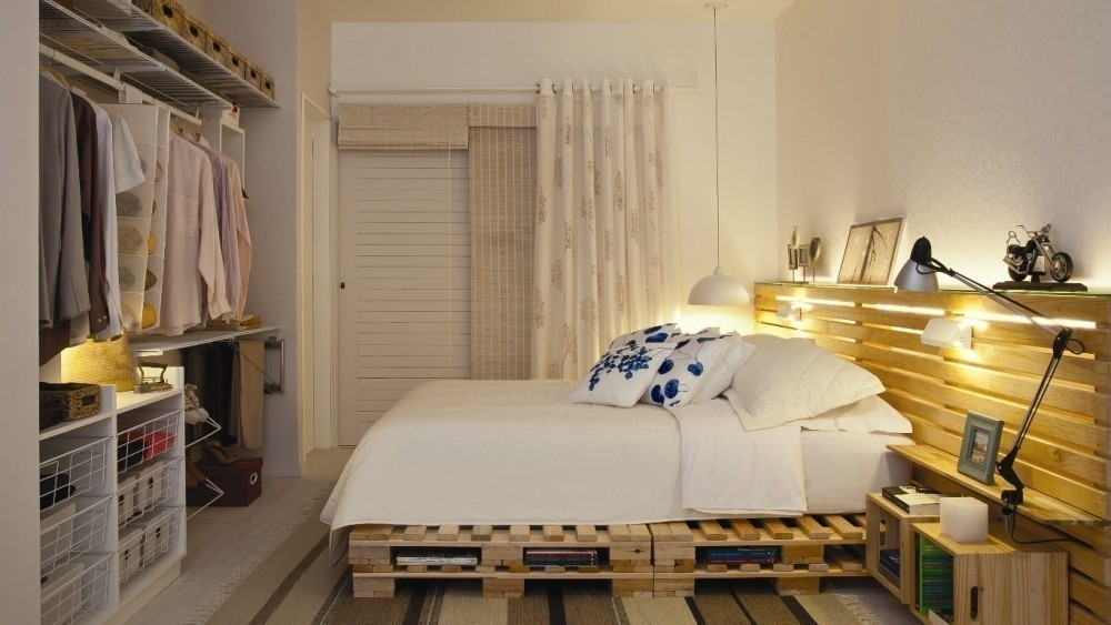 ideas con pallets- cama