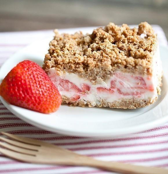 Pastel helado de fresas ¡sin harinas ni cocción!
