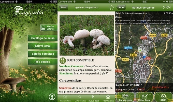 Aplicaciones ecologistas -  hongos