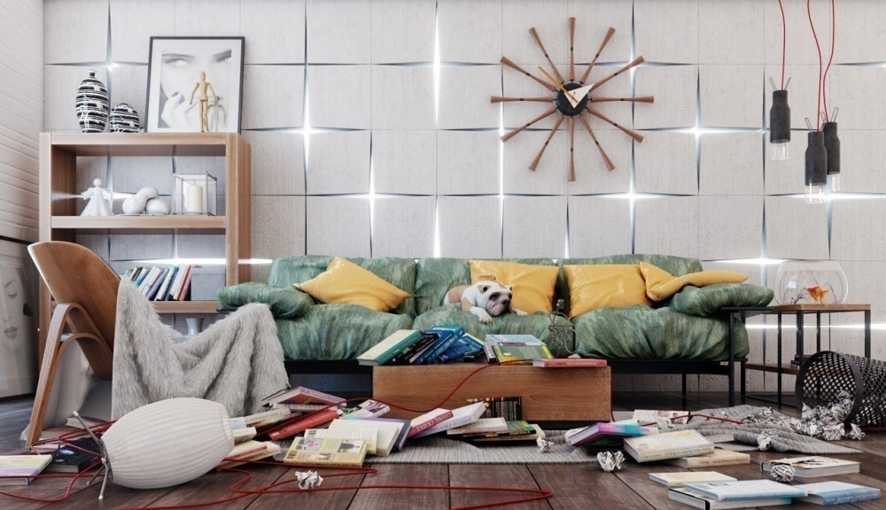 desorden - sala de estar