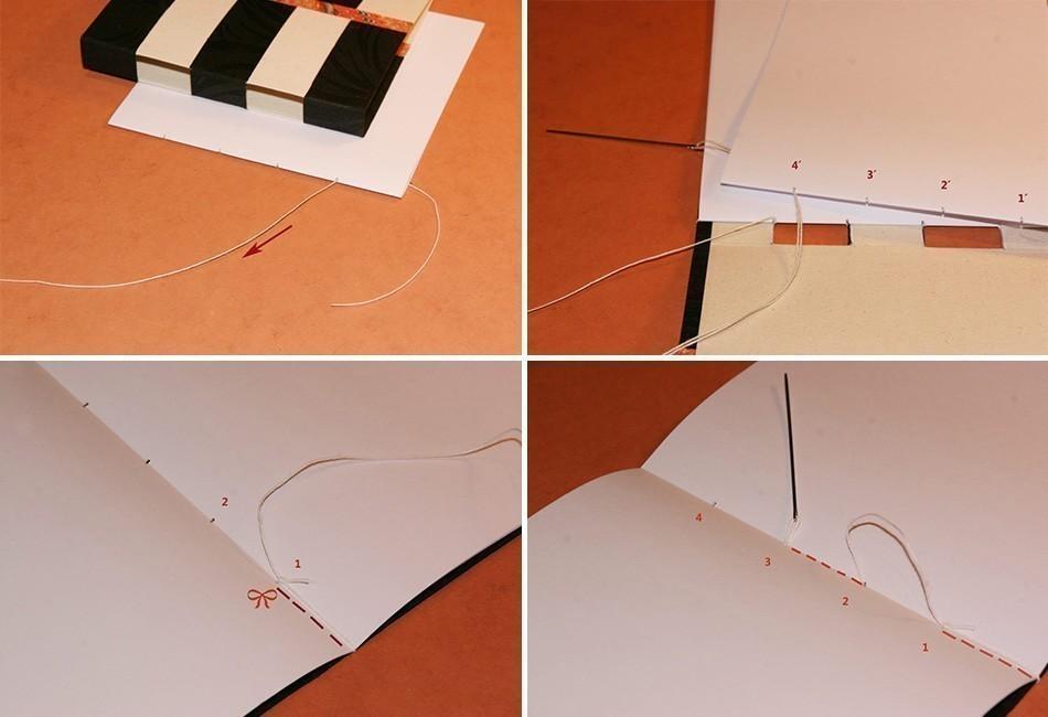 Cómo hacer un cuaderno con costura de ojal- coser