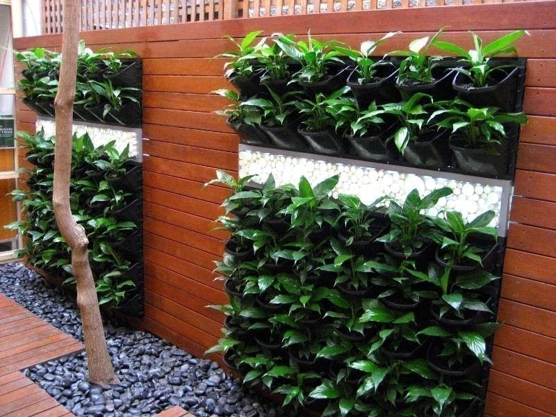 jardín vertical - maceteros verticales