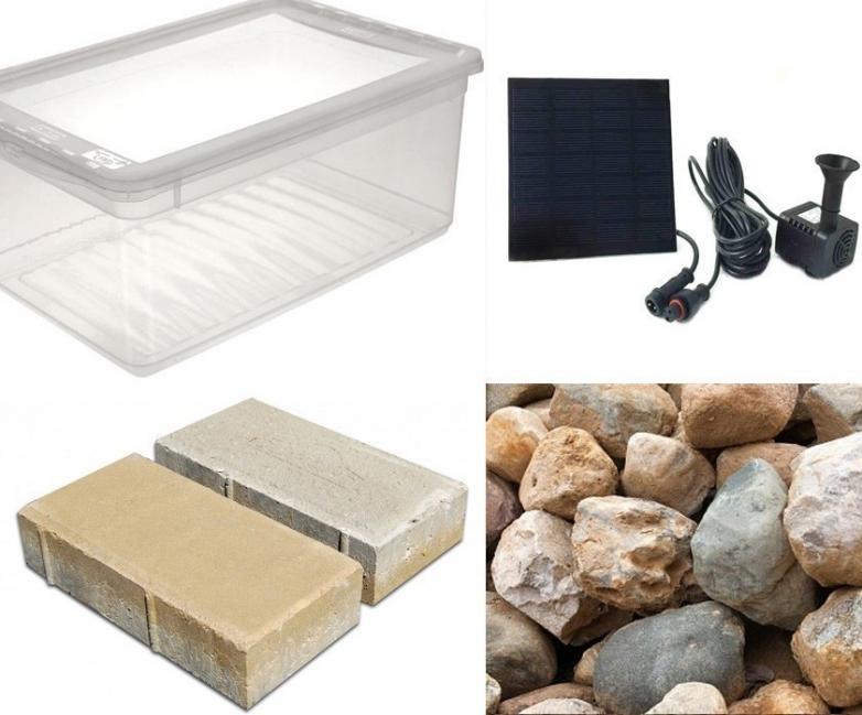 fuente para tu jardín - materiales