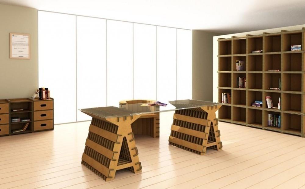 Muebles de cartón - oficina