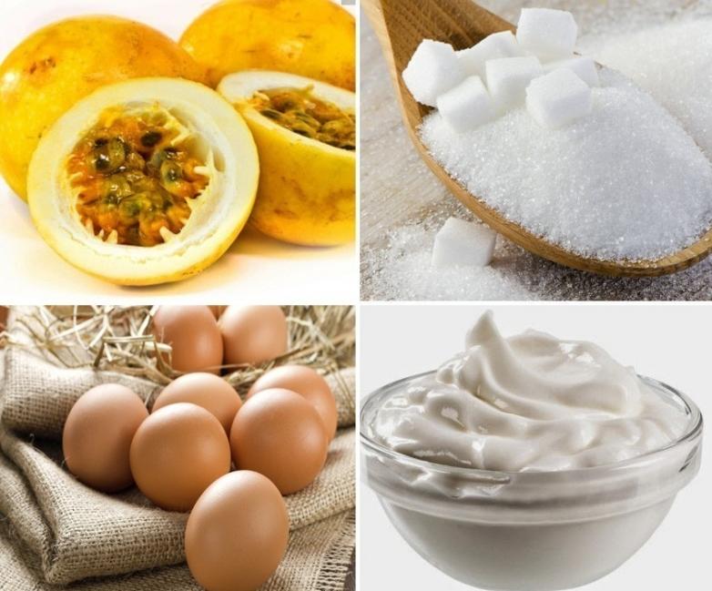 Helado de maracuyá- ingredientes