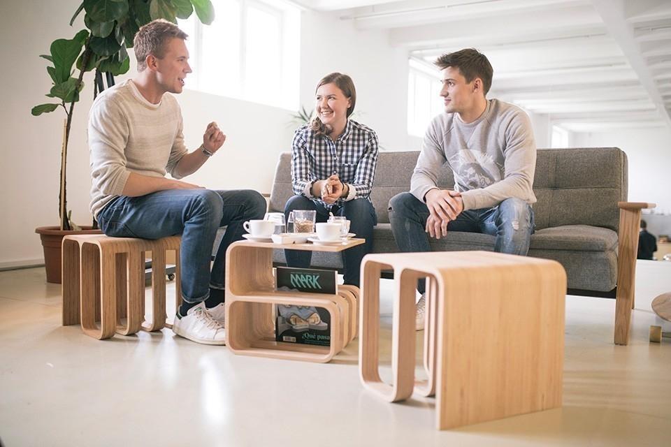 silla multifuncional que se adapta a cualquier uso y ambiente- Woodieful