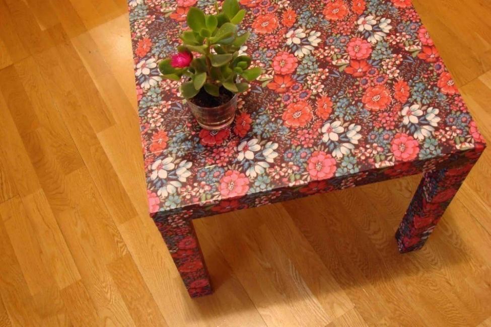 impermeabilizar una tela- idea 2 - mesa