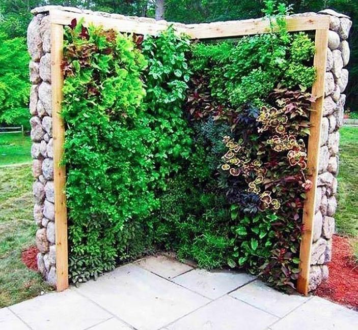 jardín vertical - canteros