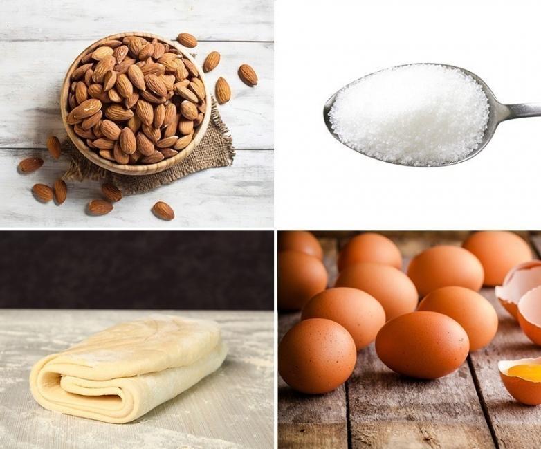 Mini galletas rellenas de crema pastelera- ingredientes