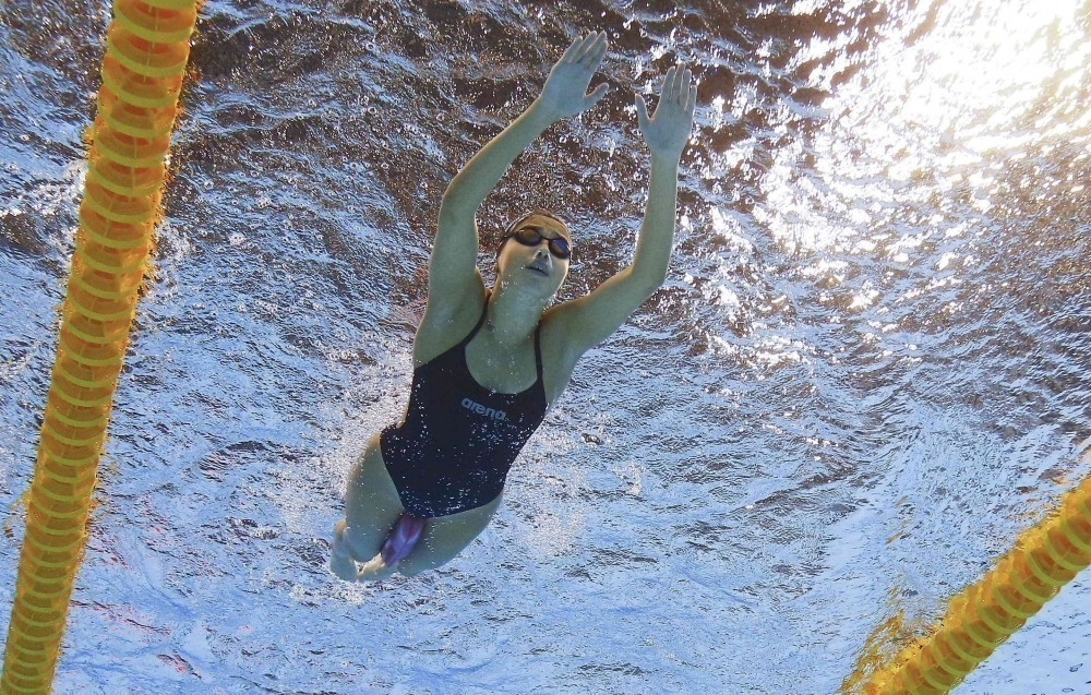 nadadora equipo refugiados