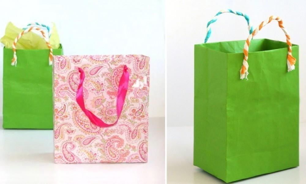 Bolsas de regalo rápidas con papel reciclado