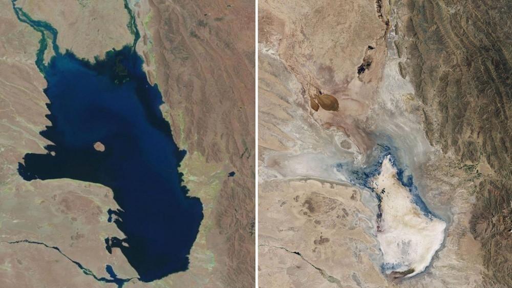 lago que se seca en bolivia