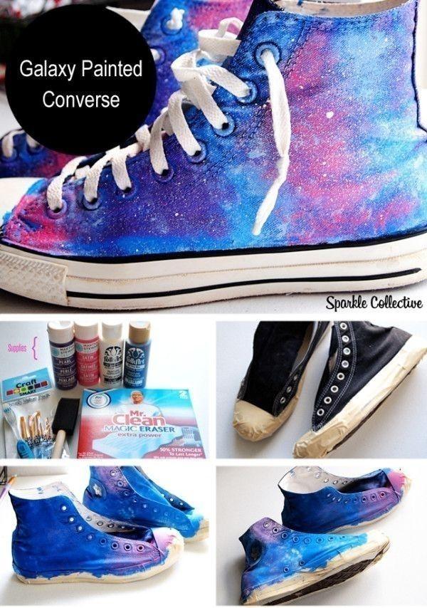 tenis pintados galaxia