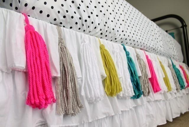 borlas de lana para decorar- cubrecamas