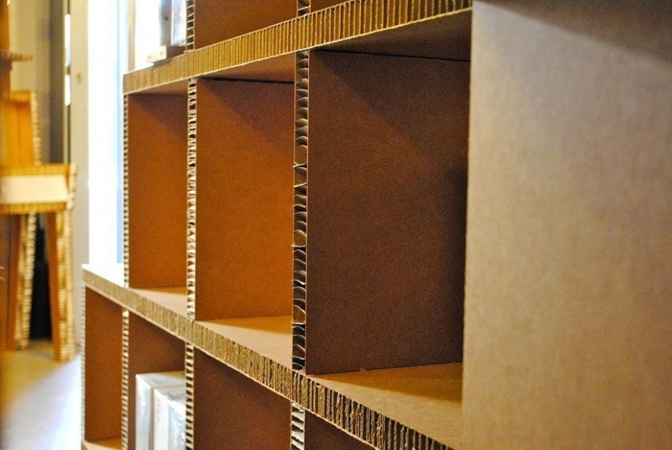Muebles de cartón - estantes