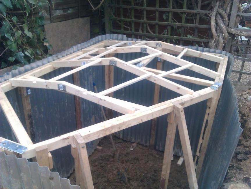 casa hobbit - estructura