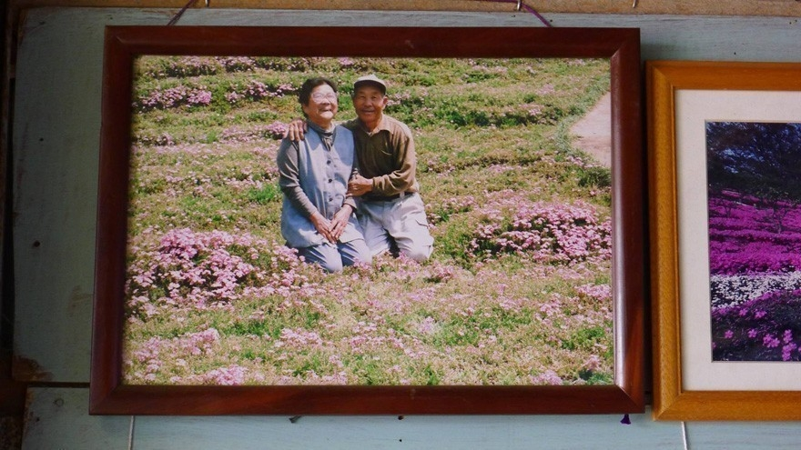hombre plantó flores para su esposa ciega - pareja