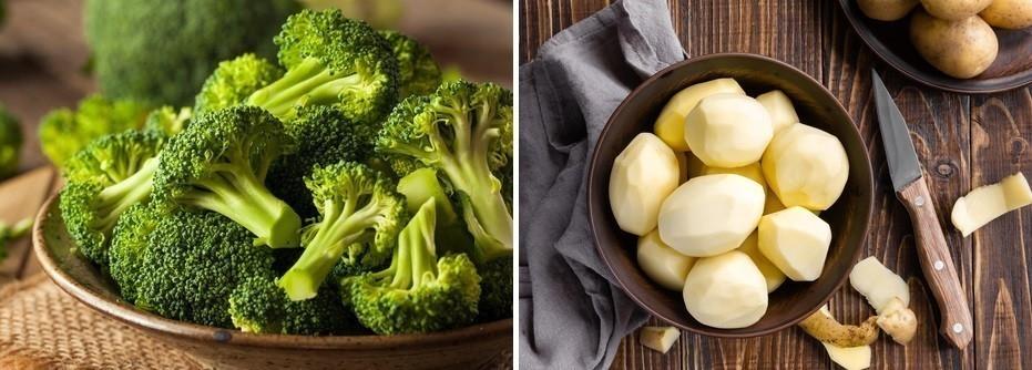 brocoli y patata