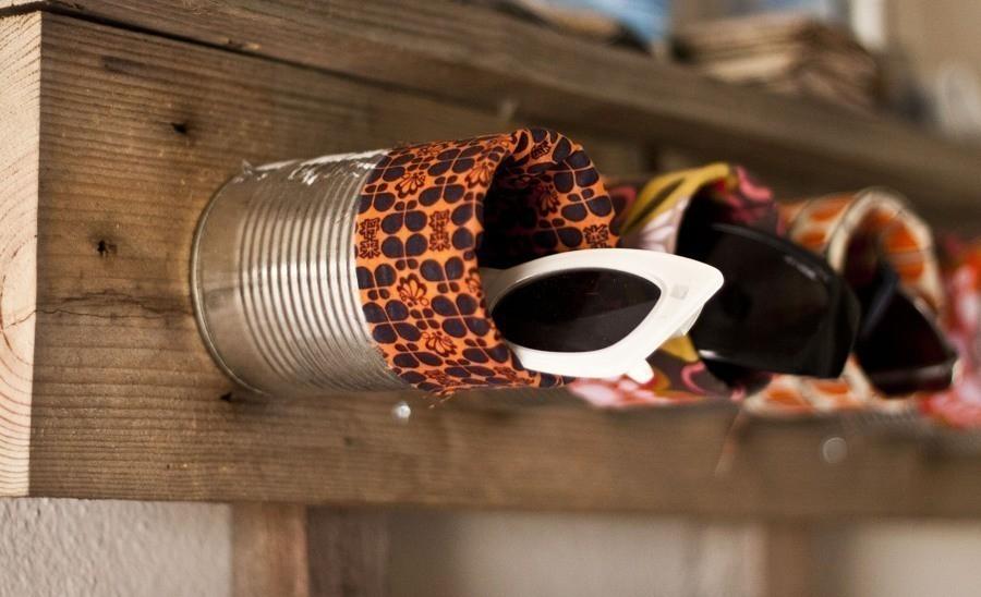 organizador de ropero con latas