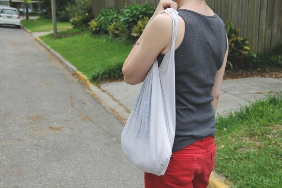 Ideas para hacer con una vieja remera - bolso