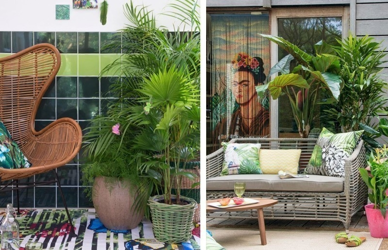 Cómo decorar con estilo tropical- jardin