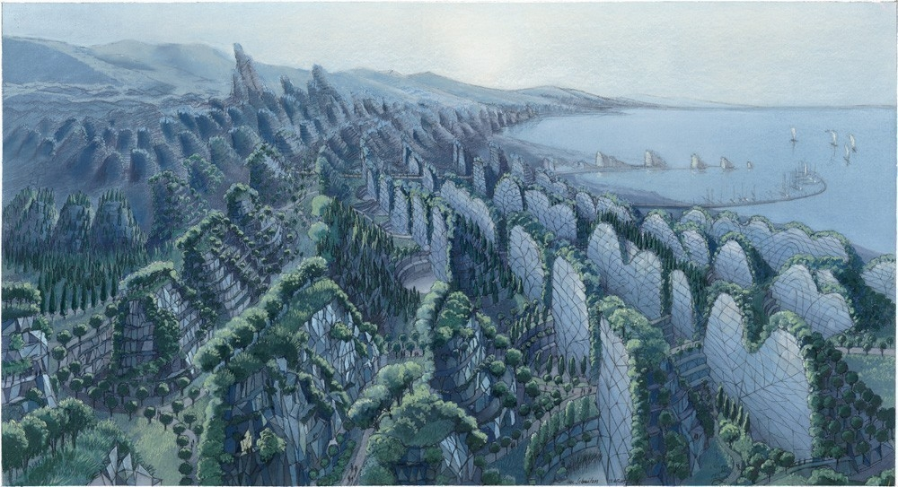 Luc Schuiten - Ciudad de las olas