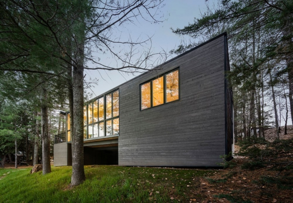 Casa reciclada de paneles de madera- exterior
