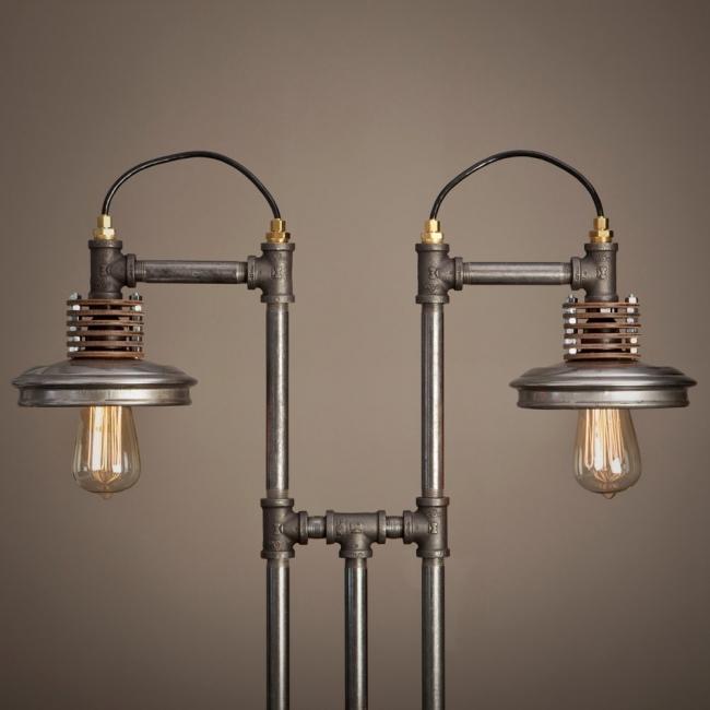 Decoración con caños  - lámparas vintage