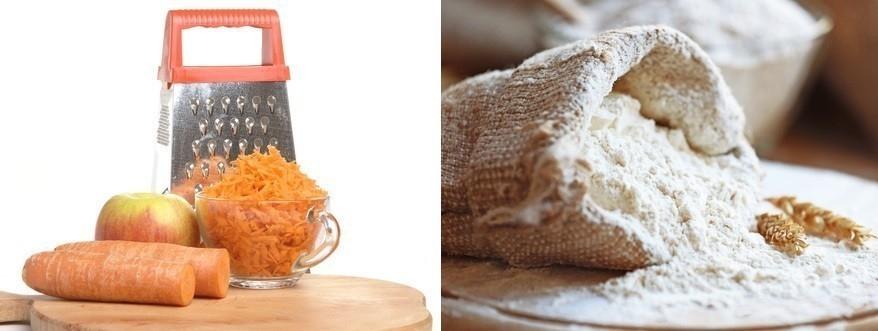 ingredientes del budín de zanahoria