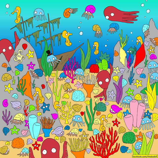 desafío visual: encuentra al pez