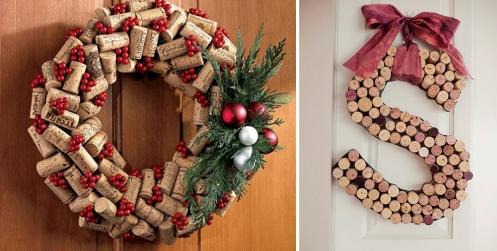Adornos para navidad con corchos