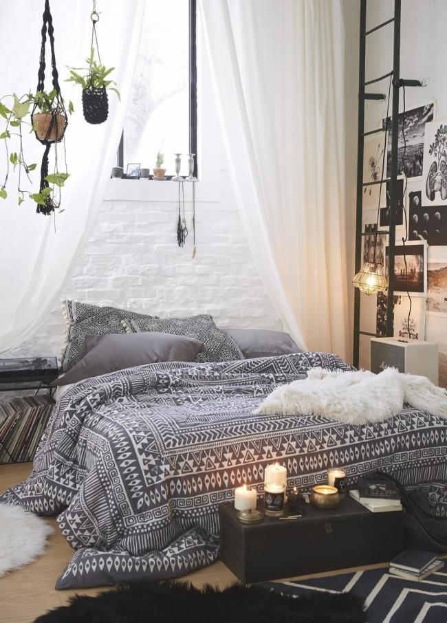 Ideas para decorar tu casa con estilo bohemio- habitación sobria