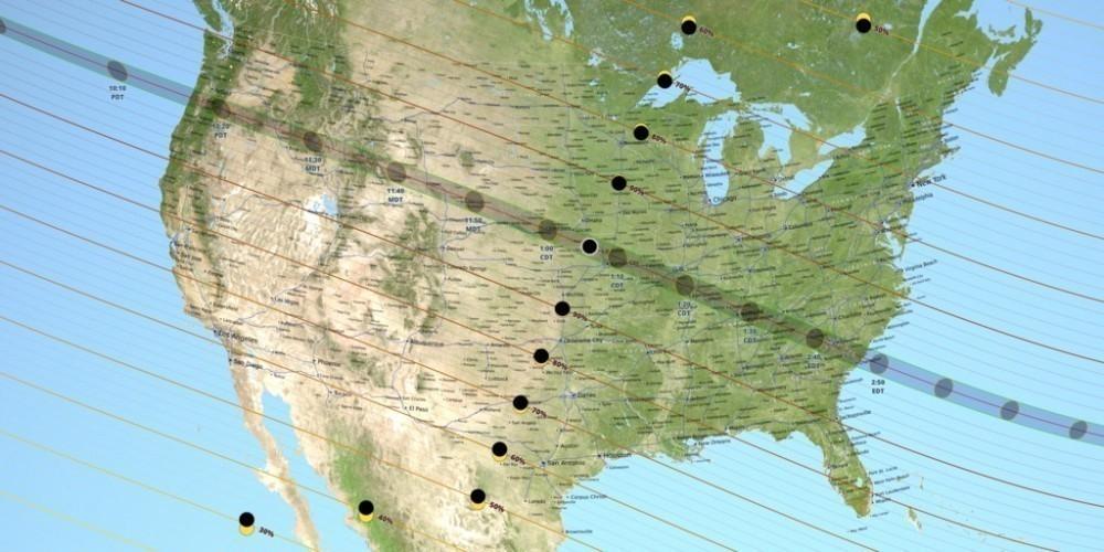 El eclipse podrá apreciarse proncipalmente en EEUU