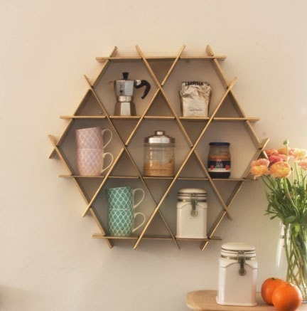 Muebles para cocinas pequeñas- estantería