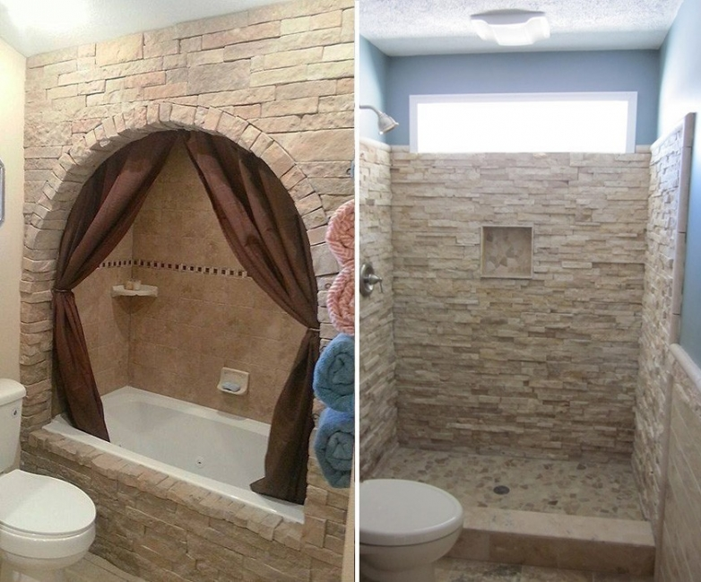 renovar tus espacios con falsa piedra- cuarto de baño