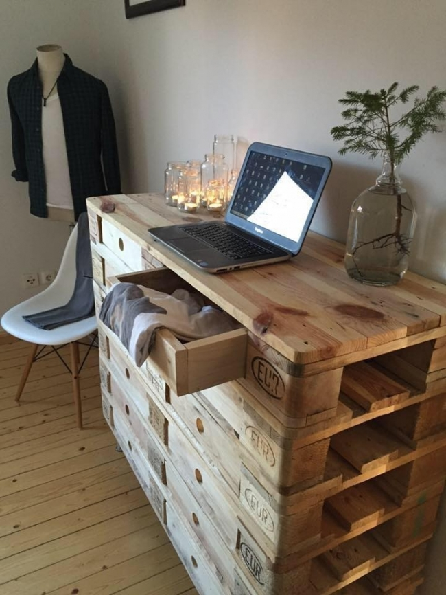 ideas con pallets- escritorio